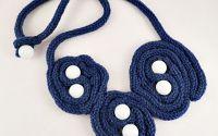 Colier bleumarin knit