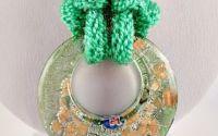 Colier verde knit