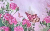 1314 Servetel trandafiri si fluture