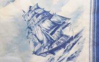 1348 Servetel in calatorie cu vaporul