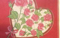 1365 Servetel trandafiri rosii