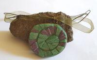 Pandantiv spirala din mozaic de sticla Murano