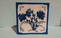 Felicitare Quilling Blue Flowers