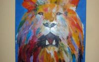 Tablou abstract Lion