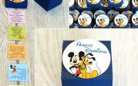 invitatie botez cutie Mickey Pluto carduri