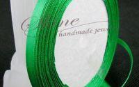 Panglica satin verde 12mm
