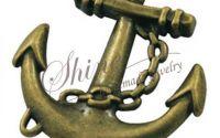 Pandantiv ancora bronz antichizat