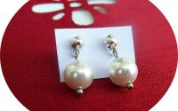 cercei perle Mallorca albe