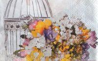 1383 Servetel aranjament floral