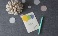 Felicitare 3D Happy Birthday cu baloane.