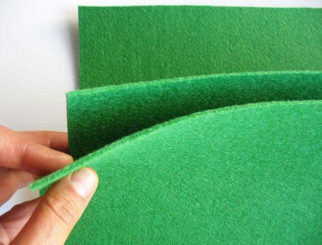 Fetru 2mm verde iarba