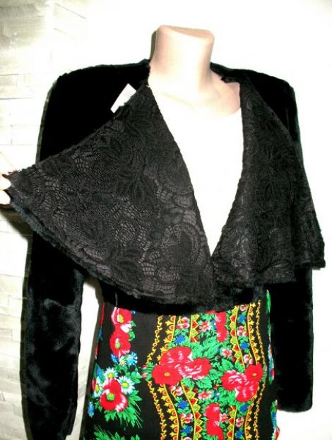 Palton din blana si tesatura russian style