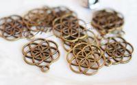 Charm floarea vietii bronz antichizat