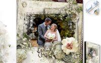 "Tablou Handmade Personalizat ""Vintage Wedding"" 06"