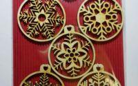 """Set ornamente de Craciun """"Fulg de Nea"""""""
