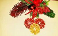 Ornament pentru brad- felii de portocala