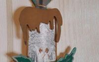 Lumanare pictata din lemn