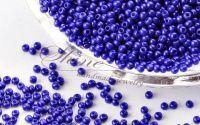 Margele de nisip Midnight Blue 2x1.5mm