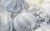 1415 Servetel globuri argintii