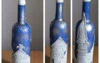 Sticla de vin decorata
