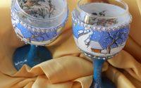 pahare de vin decorate