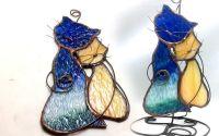 Suncatcher pisici vitraliu