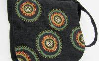 Geanta rotunjita mare - Green mandala