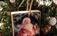Decoratiune vintage pentru Craciun - Santa Joy