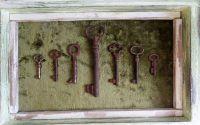Caseta unicat Mini colectie de chei antice