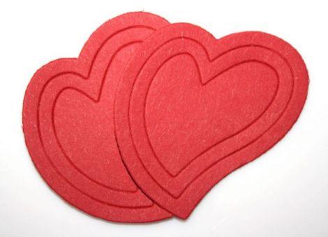 Inimi decupate din carton. Aplicatii inima
