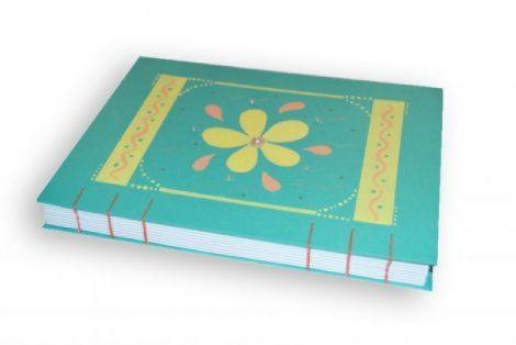 Agenda floricica turcoaz A5