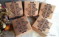 Cutii craft cu  model dantelat