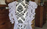 Vesta handmade macrame