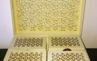 Set 5 cutii perforate- model dreptunghiular