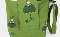 Geanta dreptunghiulara - Green elegance