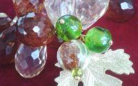 Colier perle si margele sticla Amurg de toamna
