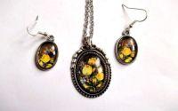 Set bijuterii model floral