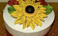 Cutie cu decor floarea soarelui