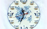 Ceas de perete - blue roses 122438