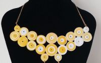 Colier yellow- quilling