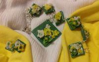 Verde cu galben in romburi