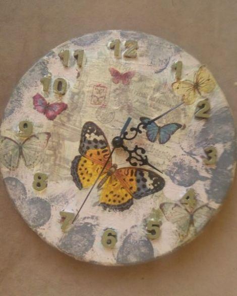 Ceas perete- Fluturi-stil romantic french