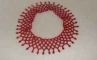 Colier rosu elastic