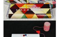 martisor ciocolata cu ambalaj personalizatat