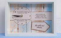 Ceas personalizat pictat manual pentru bunicul