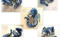 Brosa dragon tridimensional