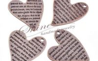 Pandantiv inima cupru antichizat