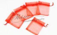 Saculeti organza rosii 10x8cm