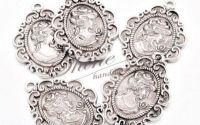 Pandantiv camee argintiu antichizat