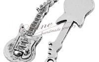 Pandantiv chitara argintiu antichizat
